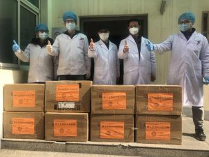 Jesuit Community Responds to COVID-19 Fight with Donation of Medical Protective Suits to Hospital in Hubei